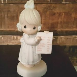 """Precious Moments Figurine """"Have you any Room For J"""